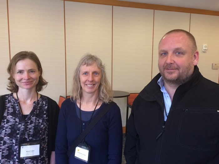 Merete Badger and Charlotte Hasager (DTU) together with investment manager Michael Hansen (IFD) in Boston
